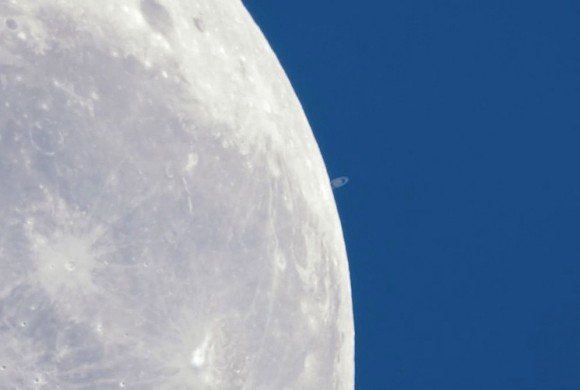 Watch Saturn Slip Behind the Moon
