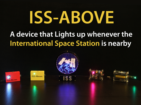 ISS-Above lights up when the International Space Station is going to fly over your location.