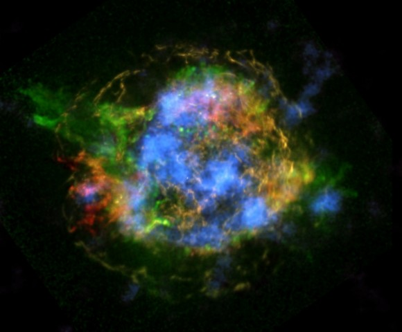 NASA's NuSTAR is revealing the mechanics behind Cassiopeia A's supernova explosion (Image credit: NASA/JPL-Caltech/CXC/SAO)