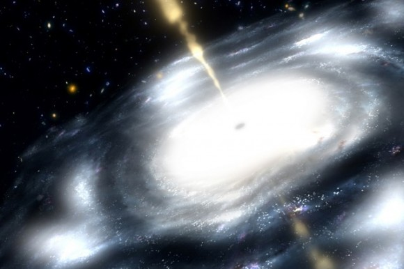 Artist rendering of a supermassive black hole. Credit: NASA / JPL-Caltech.