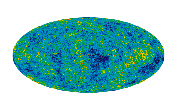 This detailed map of the cosmic microwave background is created from seven years worth of data. Image Credit: NASA