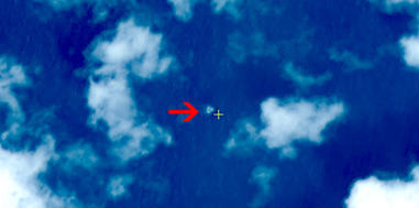 Satellite image of suspected floating objects from the missing Malaysia Airlines plane MH 370.   Credit: China SASTIND/China