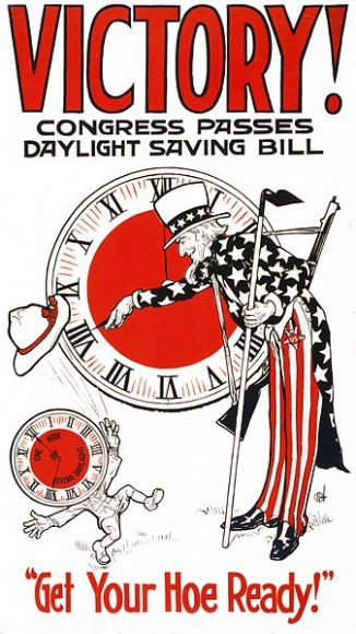 1918 Poster espousing the benifits of the first DST shift for the U.S. Credit: U.S. Library of Congress image in the Public Domain.