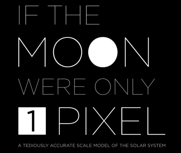 if the moon were 1 pixel