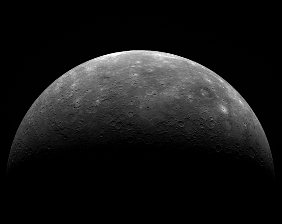 MESSENGER image of Mercury from its third flyby (NASA/Johns Hopkins University Applied Physics Laboratory/Carnegie Institution of Washington)