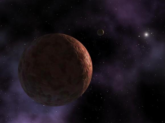 Concezione artistica di Sedna, un pianeta nano del sistema solare che ottiene solo nel raggio di 76 unità astronomiche (distanze Terra-Sole) del nostro sole.  Credit: NASA / JPL-Caltech