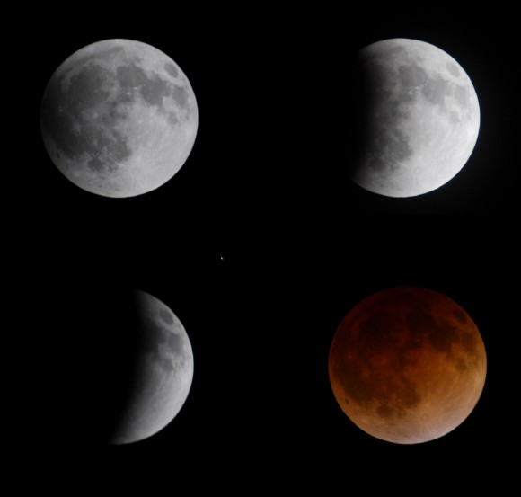 Seeing Red: Spectacular Views of this Morning's Total Lunar Eclipse