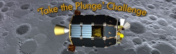 You can enter NASA's 'Take the Plunge' contest and guess LADEE's impending lunar impact date, expected on or before April 21, 2014. Credit: NASA