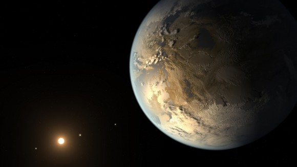 Artist's rendering of Kepler-186f (Credit: NASA Ames/SETI Institute/Caltech)