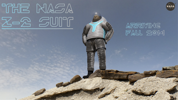 """The NASA Z-2 suit will incorporate the """"technology"""" design the public voted on. Credit: NASA"""
