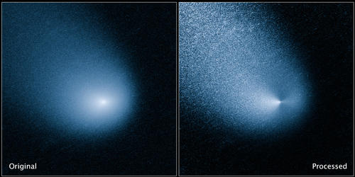 Inbound: the Hubble Space Telescope images Comet 2013 A1 Siding Spring with its Wide Field Camera 3. Credit: NASA.