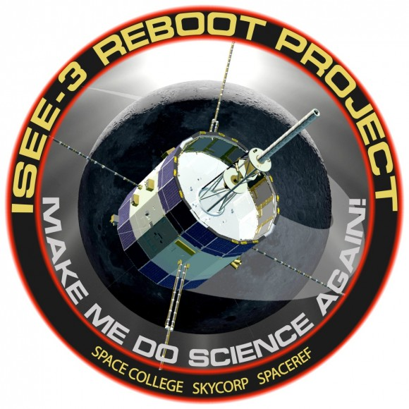 ISEE-3 Reboot Project mission patch. Image courtesy ISEE-3 Reboot.