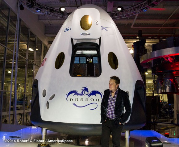 SpaceX CEO Elon Musk unveils SpaceX Drago
