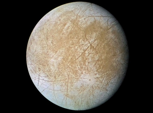 Jupiter's icy moon: Europa. Image Credit: NASA