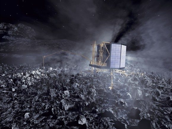 Artist's impression (from 2002) of the Philae lander on Comet 67P