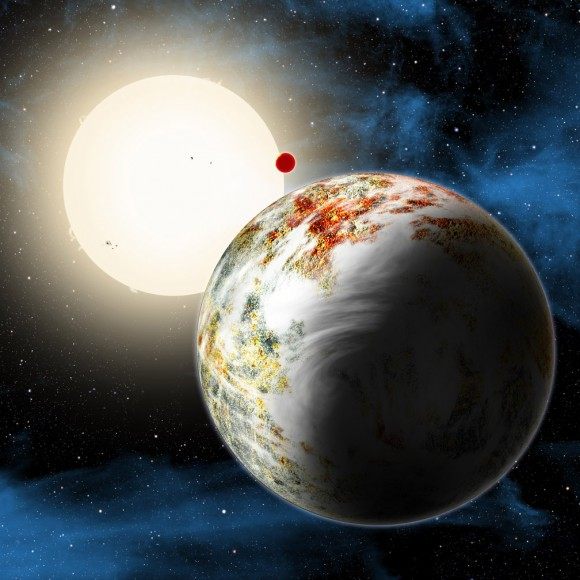 "Artist's impression of ""mega-Earth"" Kepler 10c. Credit: David A. Aguilar (CfA)"