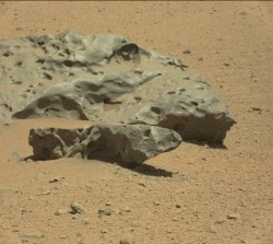 Original raw Mastcam (right) image of Lebanon and Lebanon B from Sol 640 (NASA/JPL-Caltech/MSSS)