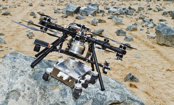 Mars 'Sky Crane' Revisited? Rover Prototype Drops To Ground Safely In European Tests