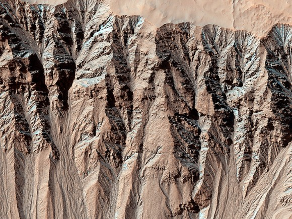 This image covers a location that has been imaged several times to look for changes in gullies.  This is in the Terra Sirenum region, p