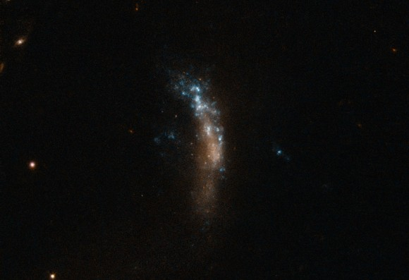 The dwarf galaxy UGC 5189A, site of the supernova SN 2010jl. Image Credit: ESO