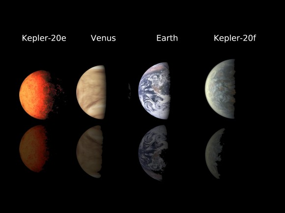An array of Earth-like planets. Image Credit: NASA