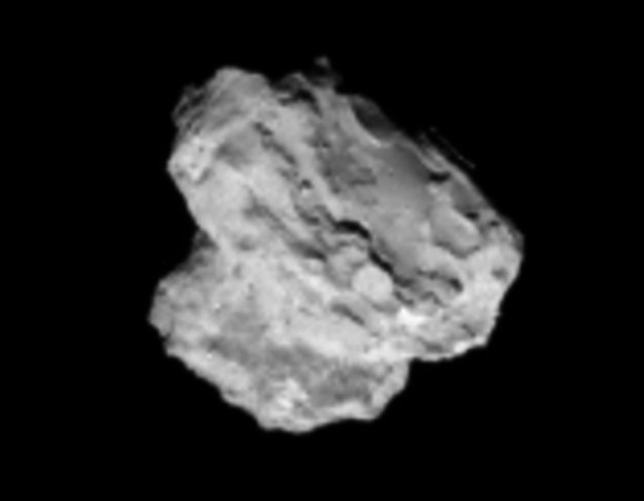 Latest image of the comet taken by Rosetta's navigation camera on August 2, 2014. Credit: ESA/Rosetta/Navcam