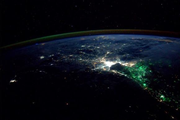 NASA astronaut Reid Wiseman Tweeted this photo of Thailand at night on  Aug.