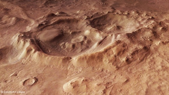This Martian Basin Shows Off Our Solar System's Violent Past