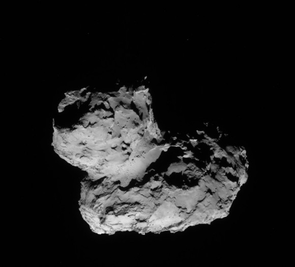 A view of the nucleus of Comet 67P/Chur