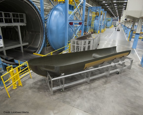 SNC's Dream Chaser® orbital structural airframe at Lockheed Martin in Ft. Worth, Texas. Credit: Lockheed Martin