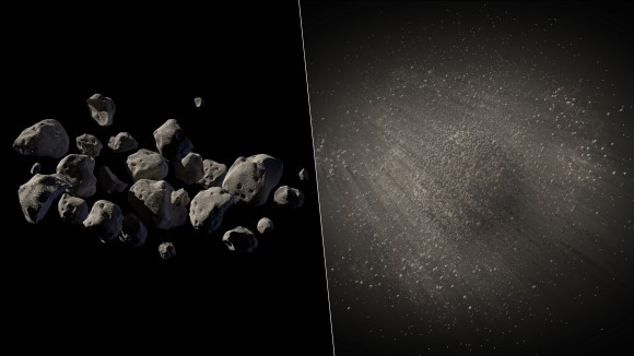 Rubble piles are common among asteroids, as illustrated by this artist's conception of 2011 MD. Credit: NASA/JPL-Caltech