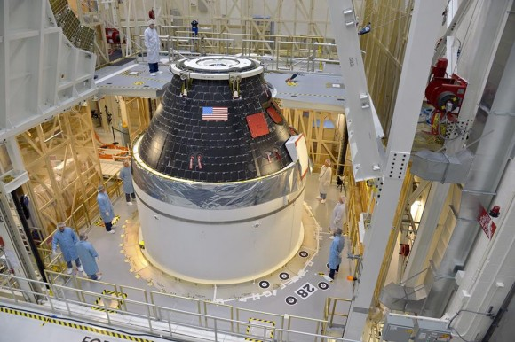 Assembly Complete for NASA's First Orion Crew Module Blasting off Dec. 2014
