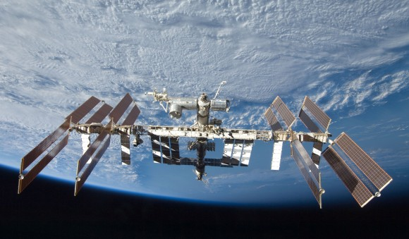 The International Space Station seen by a departing space shuttle in 2009. Credit: NASA