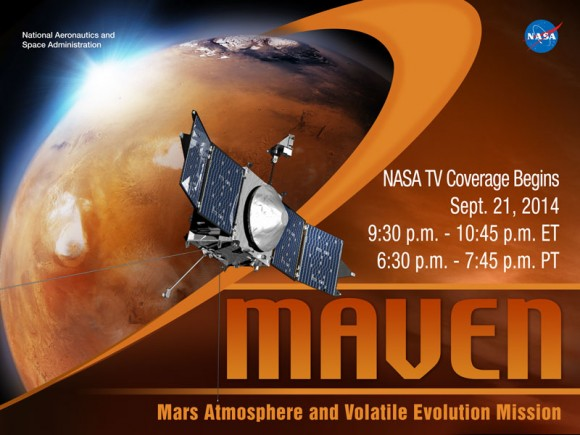 MAVEN Meets Mars on Sept. 21, 2014. Credit: NASA.