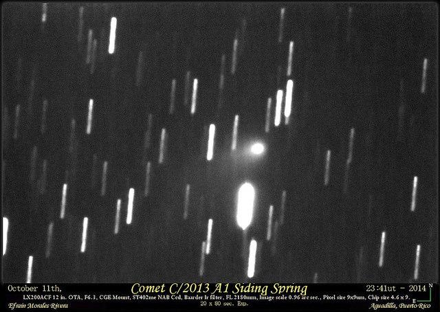 Across The Universe Comet A1 Siding Spring Vs Mars Views