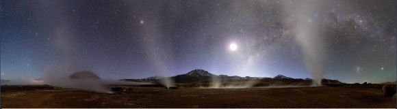 PNA - First prize in the'Pro' Category: 'Night at Tatio Geysers.' Credit and copyright: Jean-Marc Lecleire/PNA