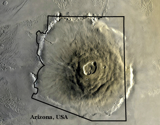 nasa mars volcano biggest one - photo #17