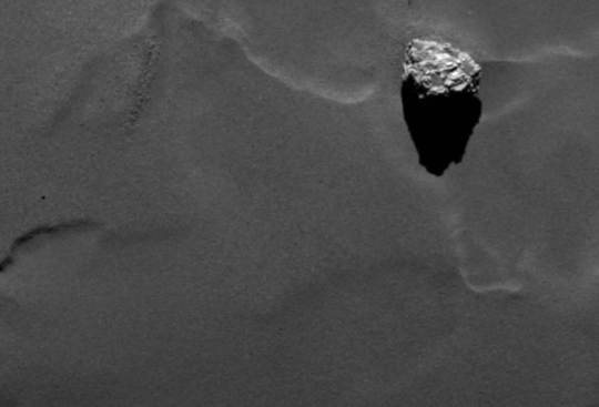 Check Out This Huge Rock On The Surface Of Rosetta's Comet!