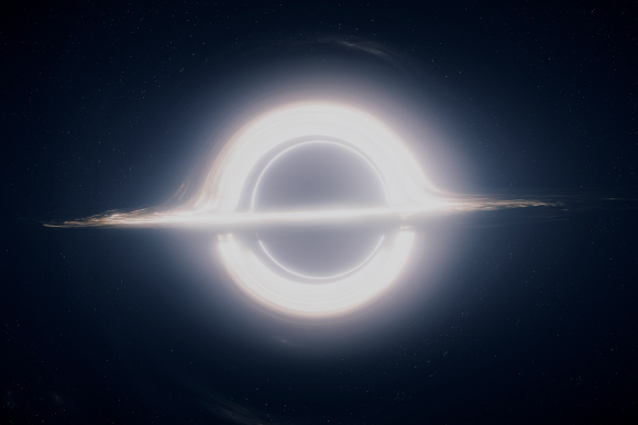 Kip Thorne's concept for a black hole in 'Interstellar.' Image Credit: Paramount Pictures