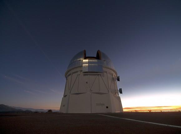 The Victor M. Blanco telescope at Cerro Tololo Interamerican Observatory (CTIO) in the Chilean Andes. Credit: Berkeley Lab