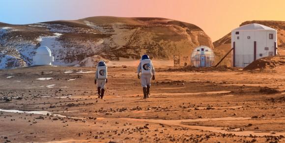 The Mars Society's prototype Mars habitat in Utah.  Image Credit: Mars Society MRDS