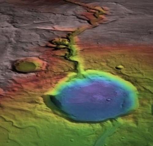 Credit: NASA/MRO/Rendering: James Dickson, Brown University