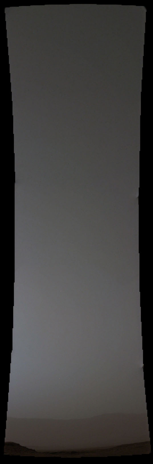 In this panoramic view taken by NASA's Curiosity Rover on October 19th shortly after local sunset (6:11 p.m.), Comet Siding Spring is the single bright pixel at far upper left. Click for a high resolution version. Credit: NASA/JPL-Caltech/Malin Space Science Systems/James Sorenson