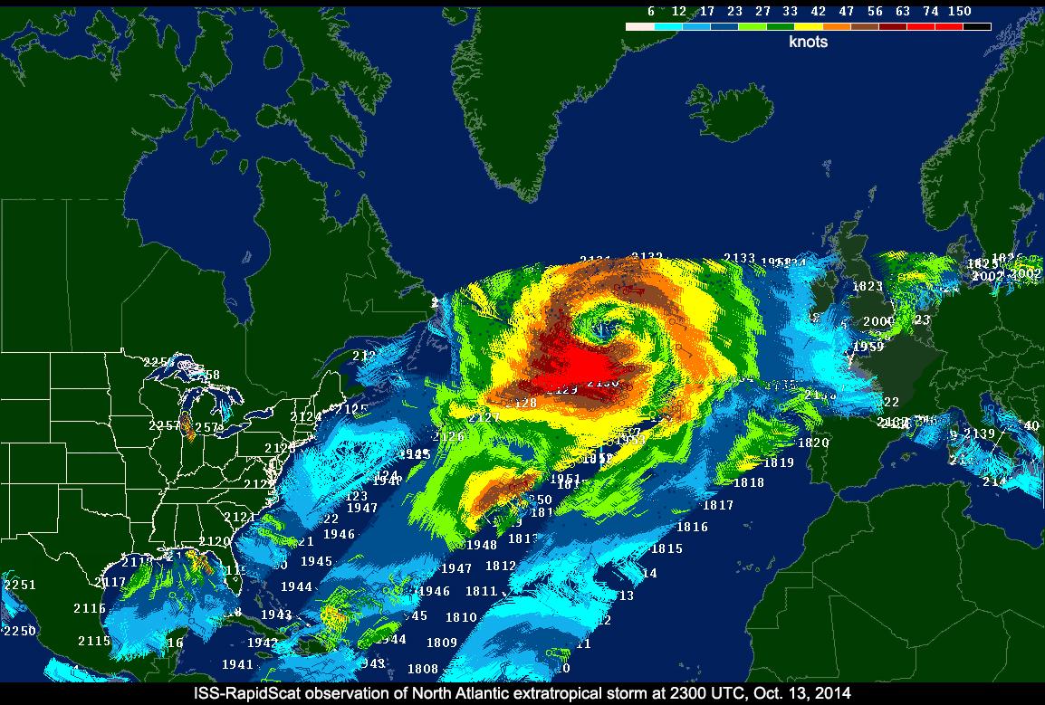 Earth Monitoring System : Nasa s rapidscat ocean wind watcher starts earth science