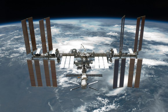 The International Space Station as seen by the departing STS-134 crew on May 29, 2011. Credit: NASA