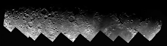 Nine shots of the Moon overlap in this view of the terminator taken Nov. 29, 2014. Credit: Roger Hutchinson