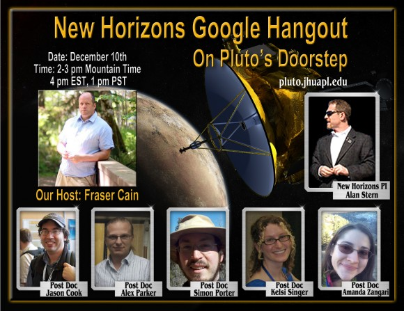 New Horizons Google Hangout