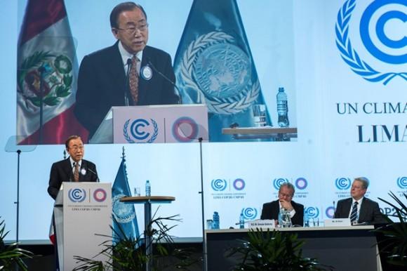 Secretary-General Addresses Lima Climate Action High-level Meeting.  Credit: UN Photo/Mark Garten