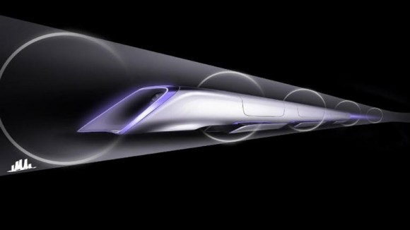 Concept art for the Hyperloop high-speed train. Credit: Reuters
