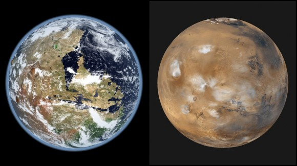 According to recent findings, the water that once existed on Mars' surface could be found underground. Credit: Kevin Gill